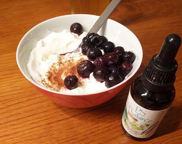 Kwark met PowerSlim Balance steviadruppels vanille
