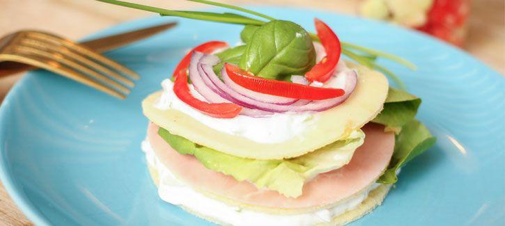 Hartige pannenkoek sandwich