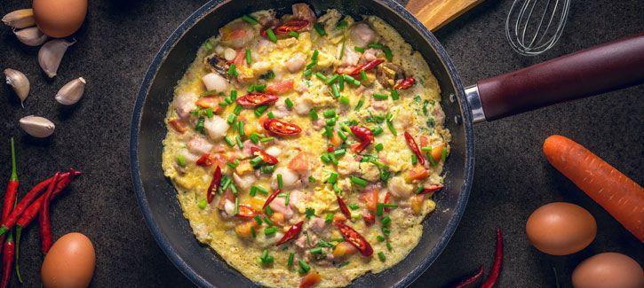Kleurrijke omelet