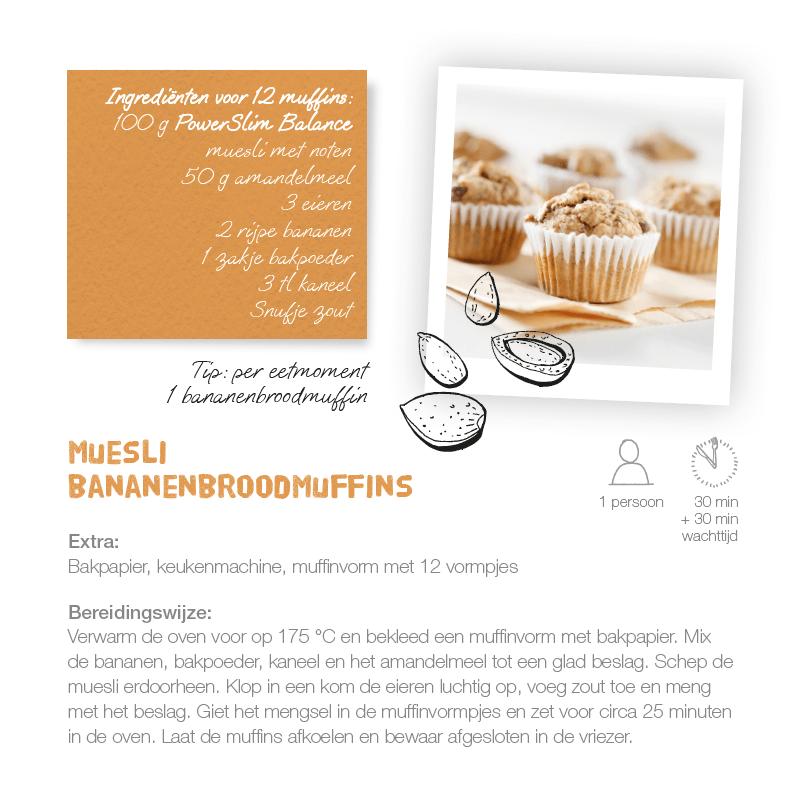 Recept muesli bananenbroodmuffins