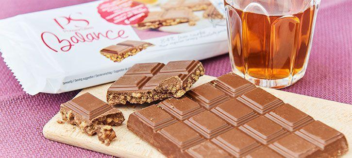 Crispy melkchocolade tablet