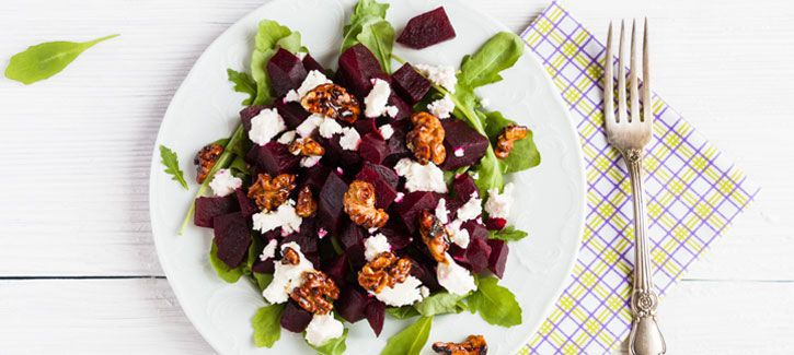 Rode bieten salade met feta