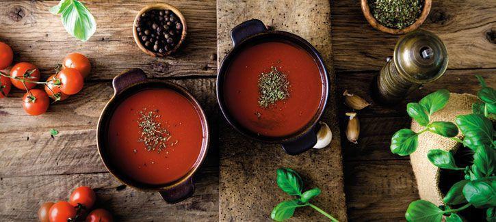 Soep van geroosterde tomaatjes