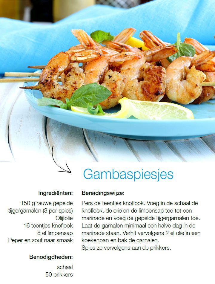 Gambaspiesjes recept gourmet