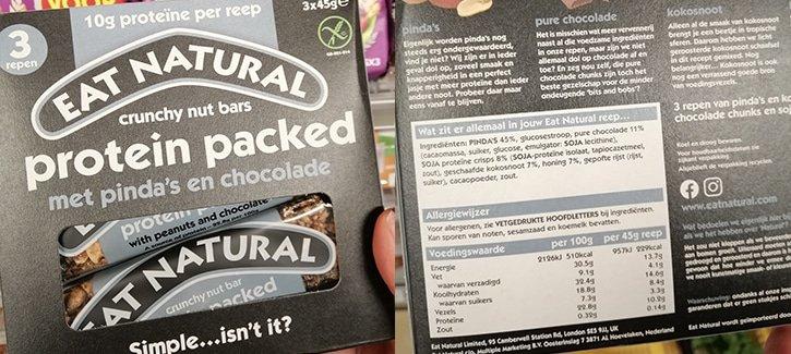 Voedingswaarde eat natural